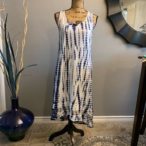Style & Co Tie Dye Maxi Dress  F369